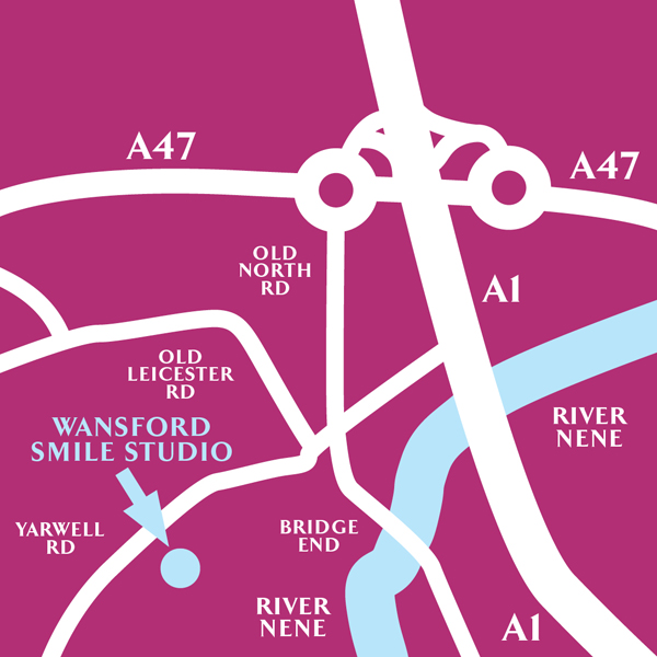 Directions to Wansford Smile Studio from Peterborough